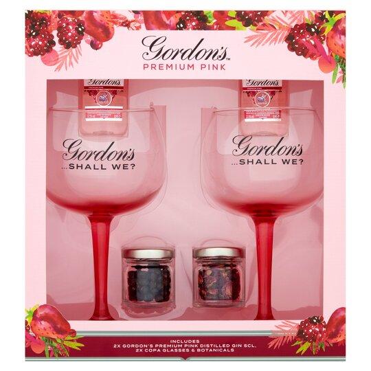 Gordon's Pink Gin & Glasses Gift Set