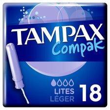 image 1 of Tampax Compak Lites Applicator Tampons 18
