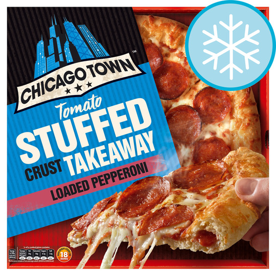 Chicago Town Large Takeaway Pepperoni Pizza 645g