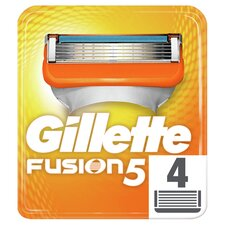 image 1 of Gillette Fusion Razor Blades Refill 4 Pack