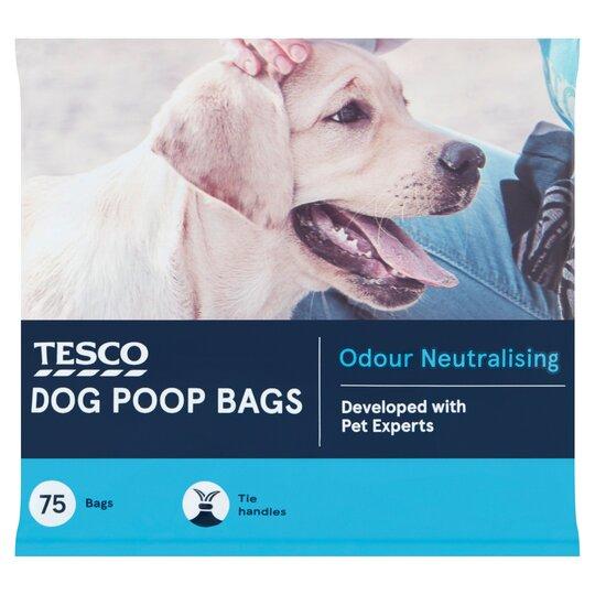 Tesco Dog Poop Bags 75'S