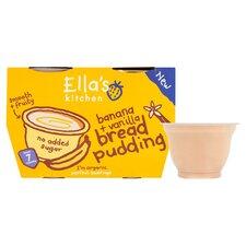 image 2 of Ella's Kitchen Banana & Vanilla Bread Pudding 4X80g