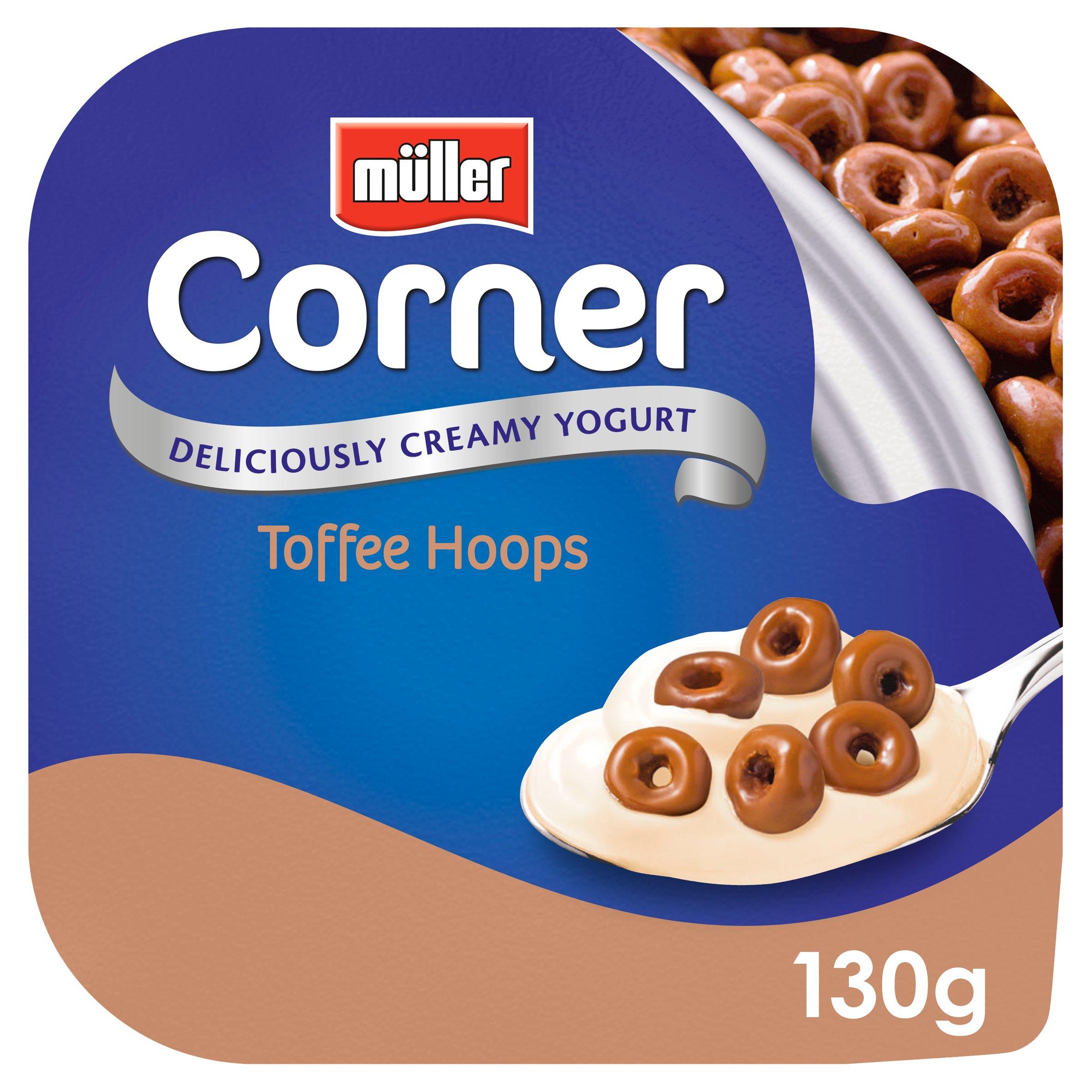 Muller Corner Creamy Toffee Hoops Yogurt 130G