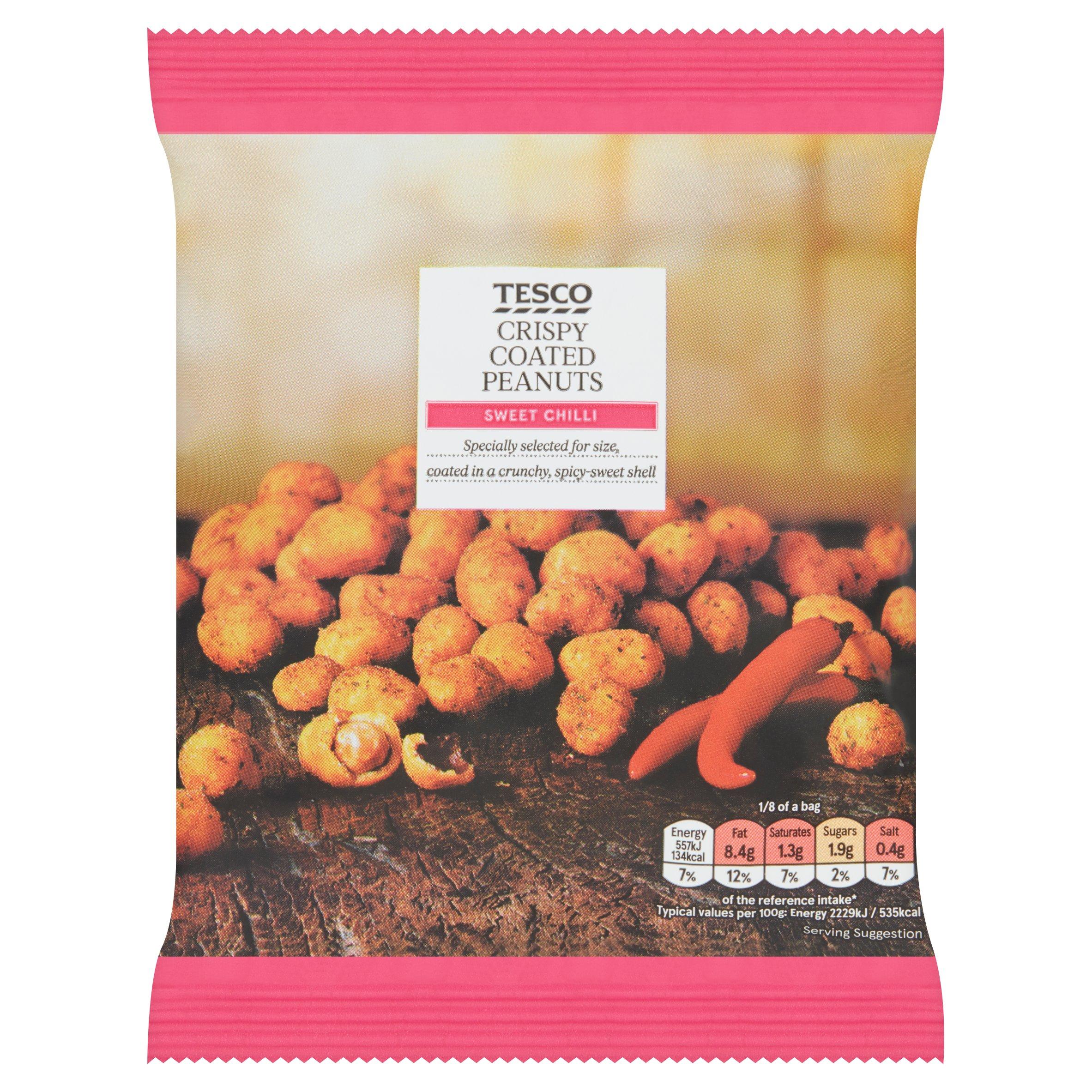 Tesco Sweet Chilli Coated Peanuts 200G