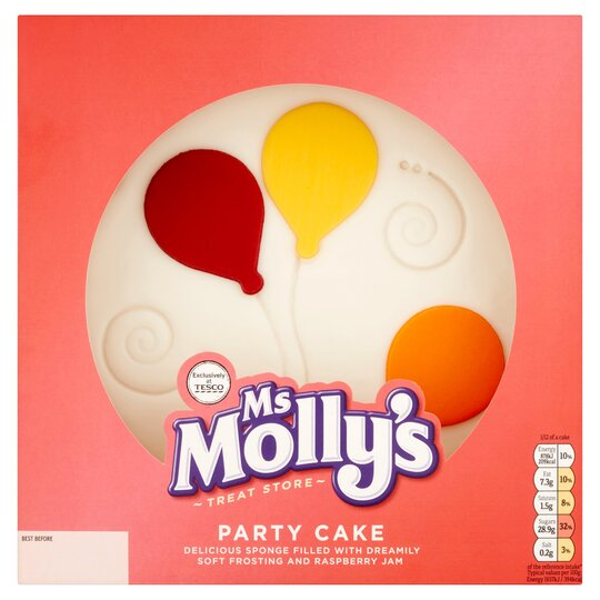 Stupendous Ms Mollys Iced Party Cake Tesco Groceries Personalised Birthday Cards Paralily Jamesorg