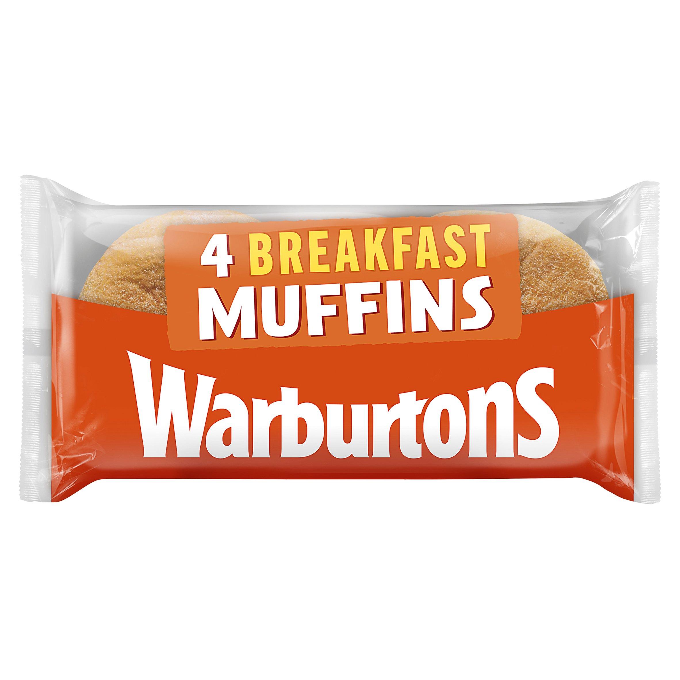 Warburtons Breakfast Muffins 4 Pack
