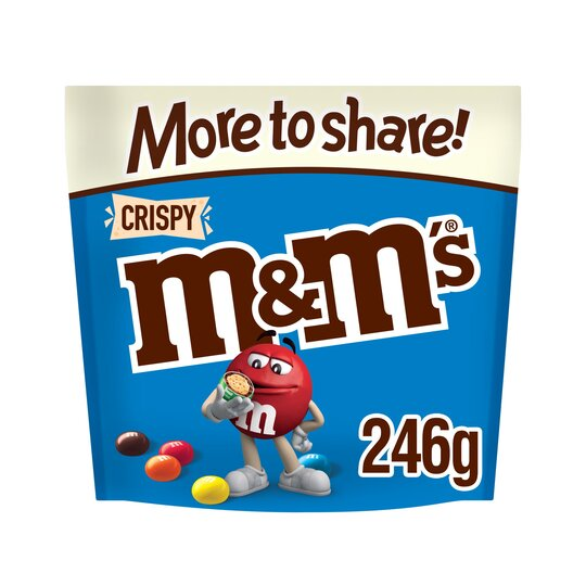 M&M Crispy More To Share Chocolate Pouch 246G