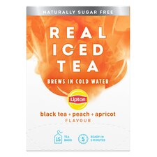 image 1 of Lipton Real Iced Black Tea, Peach & Apricot 15S 33G