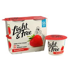 image 2 of Light & Free Greek Style Strawberry Yogurt 4X115g