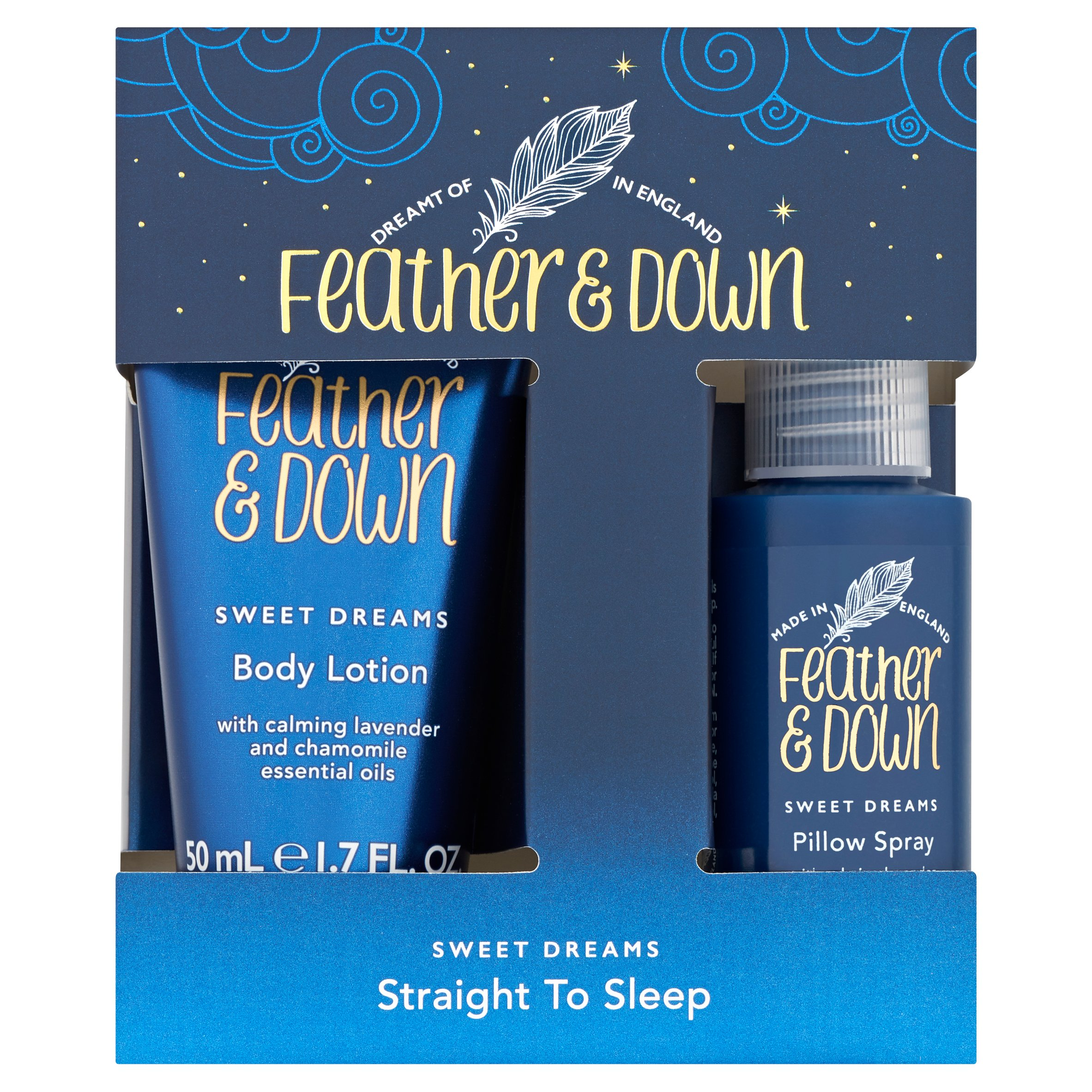 Feather&Down Sweet Dreams Straight To Sleep Set