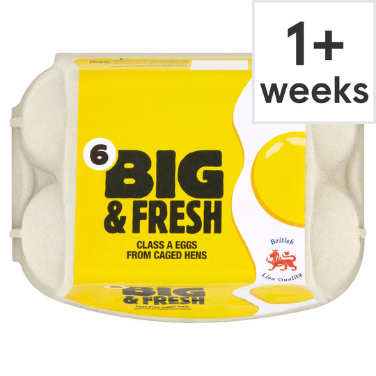 Big & Fresh Mixed Sized Eggs 6 Pack