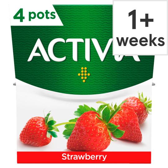 Activia Strawberry Yogurt 4 X 120G