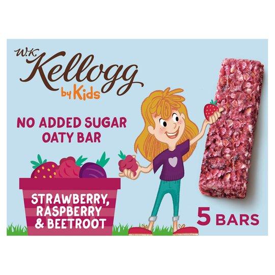Wk Kellog Kids Raspberry Strawberry Beetroot Bar 5X22g