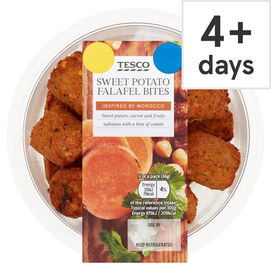 Tesco Sweet Potato Falafel Bites 147g