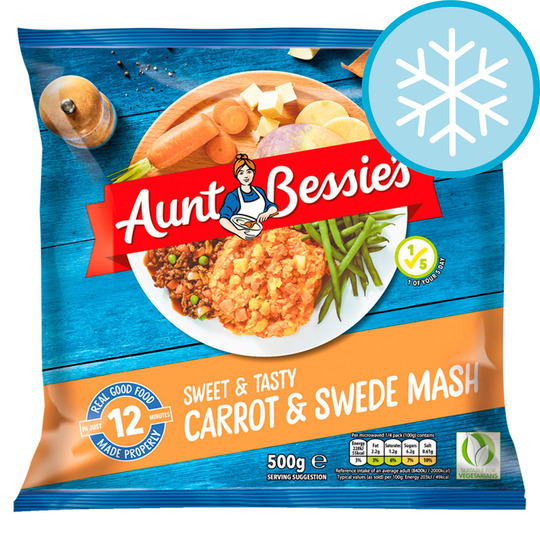 Aunt Bessie's Mashed Carrot & Swede 500G