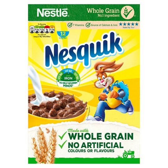 Nestle Nesquik Cereal 375G - Tesco Groceries