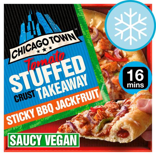 Chicago Town Vegan Crust Pizza Bbq Jackfruit 490G