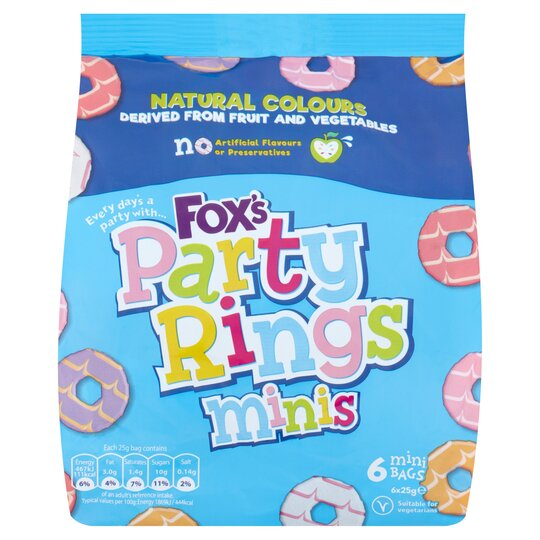 image 1 of Fox's Mini Party Rings Biscuits 6 Bags
