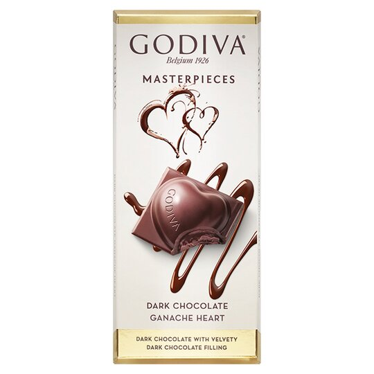 image 1 of Godiva Belgian Dark Chocolate Ganache Bar 83G