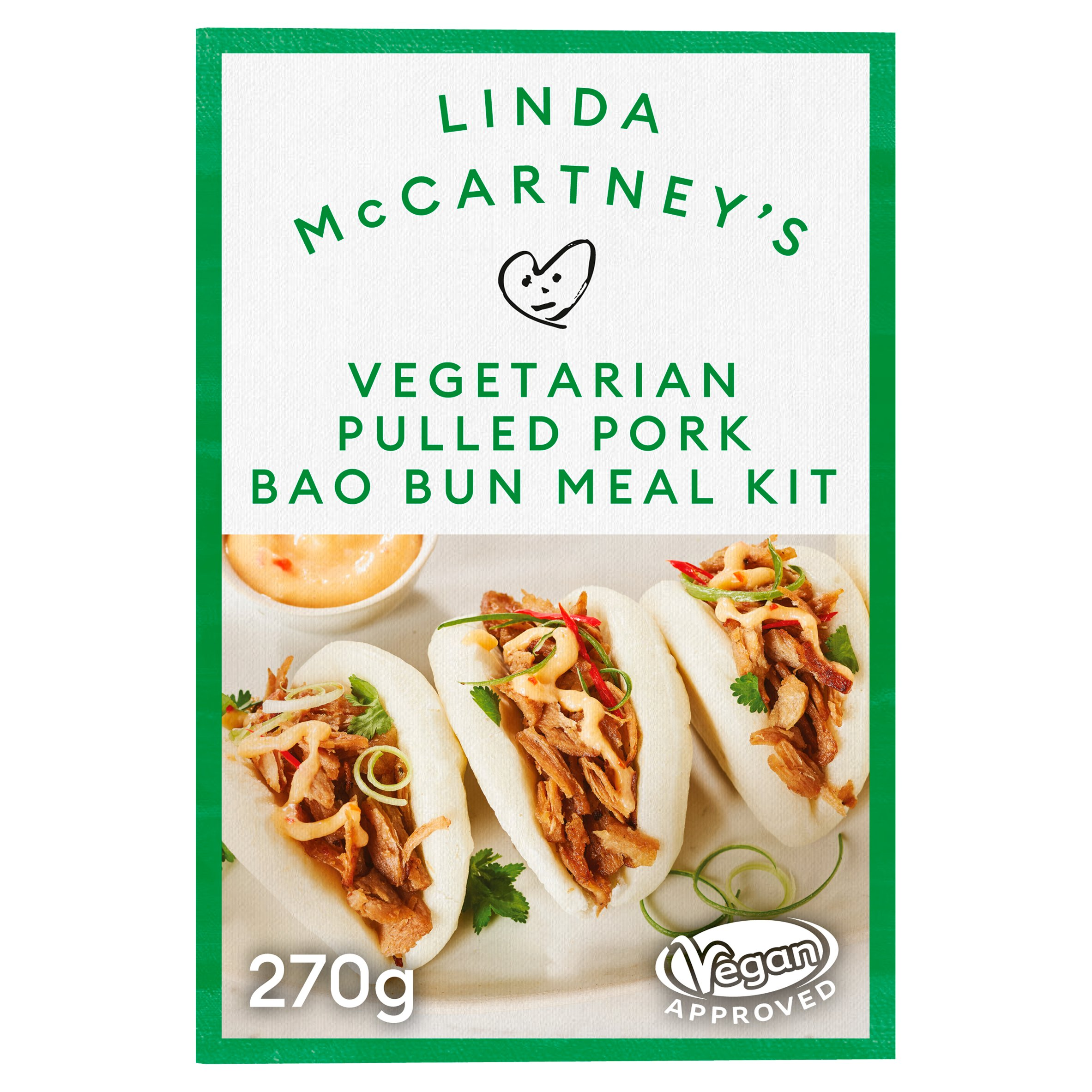 Linda Mccartney Vegetarian Pork Bao Bun Meal Kit 270G