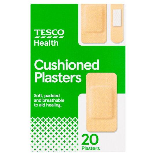 Tesco Cushioned Plasters 20'S