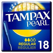 image 1 of Tampax Pearl Regular Applicator Tampons 18