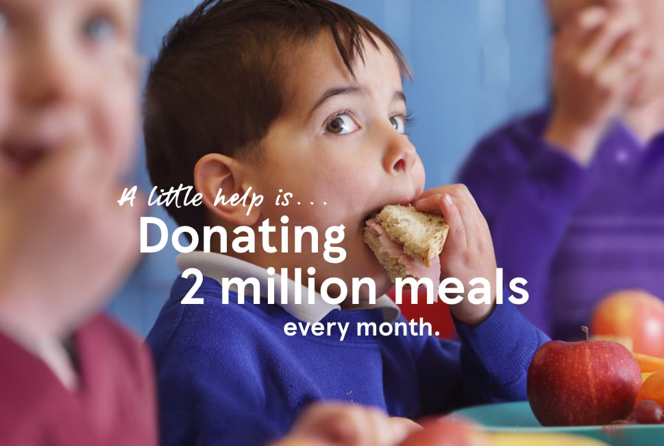 A little help is... donating 2 million meals every month.