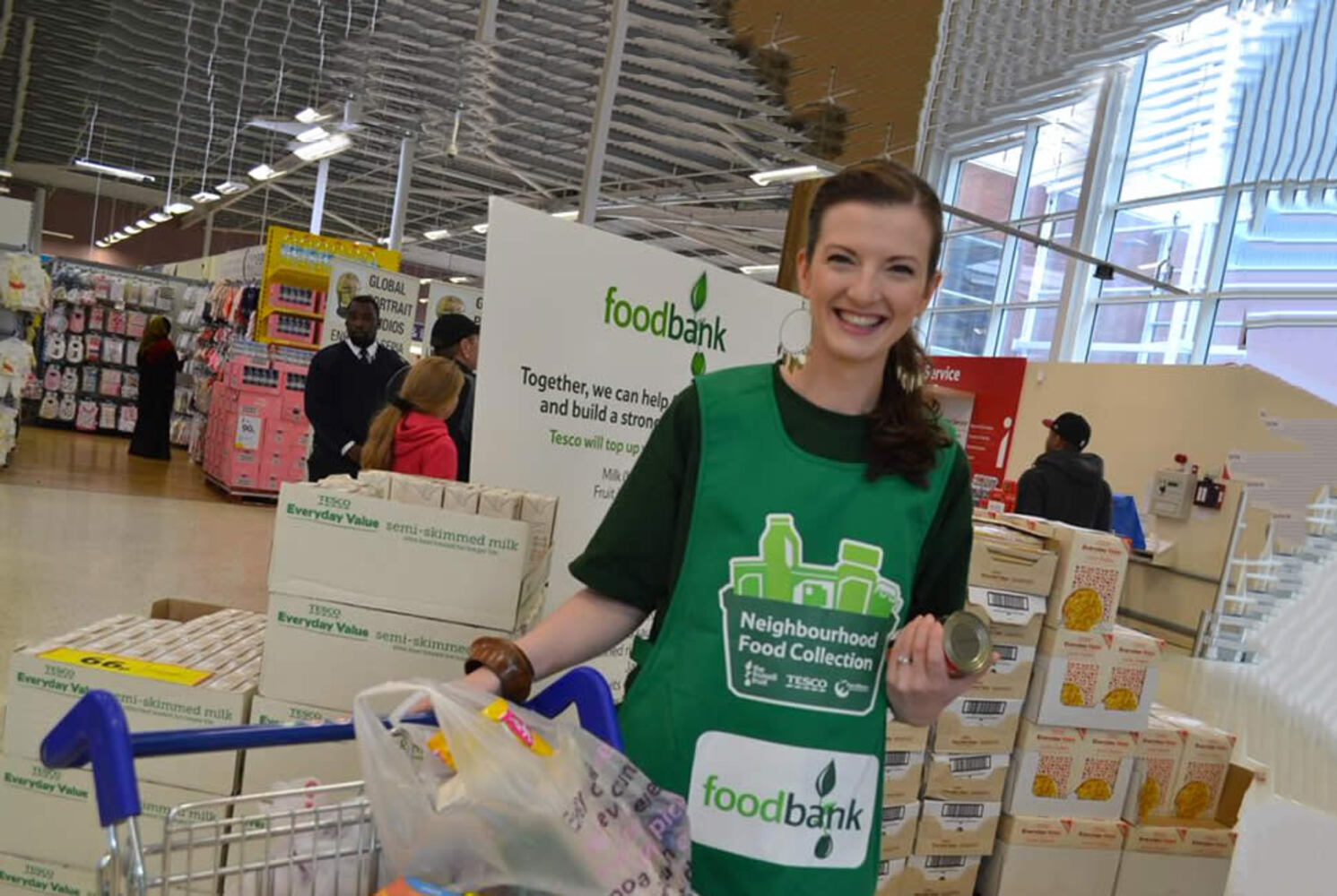 The Neighbourhood Food Collection is part of our ongoing effort to encourage customers to donate long-life food to charity