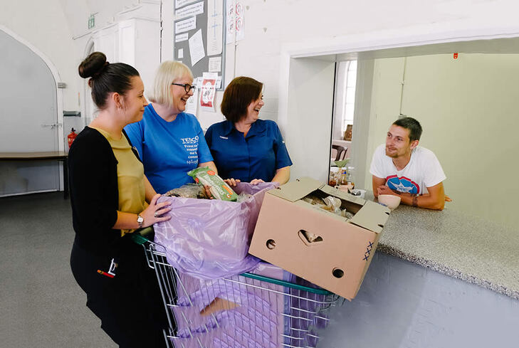 Community Food Connection: Giving our surplus food directly from our stores to local charities for free