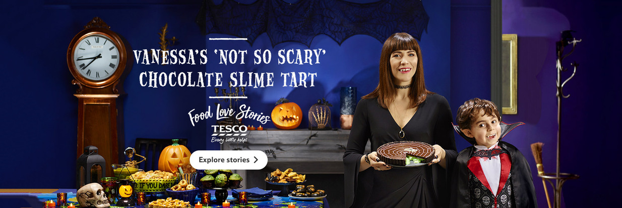 Vanessa's Chocolate Slime Tart- Tesco Food Love Stories