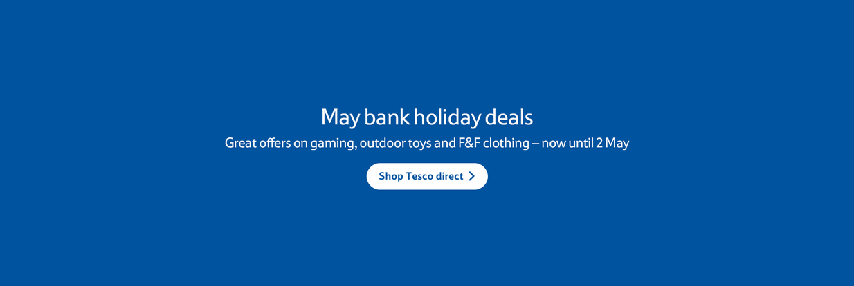 Tesco direct: bank holiday deals