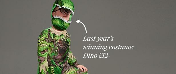 Benjamin's winning costume: Dino £12