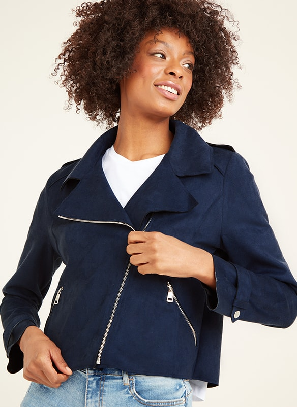 Navy zip up jacket with 2 zip pockets