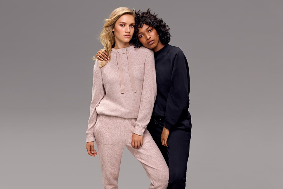 Bubble hem sweaters with matching joggers