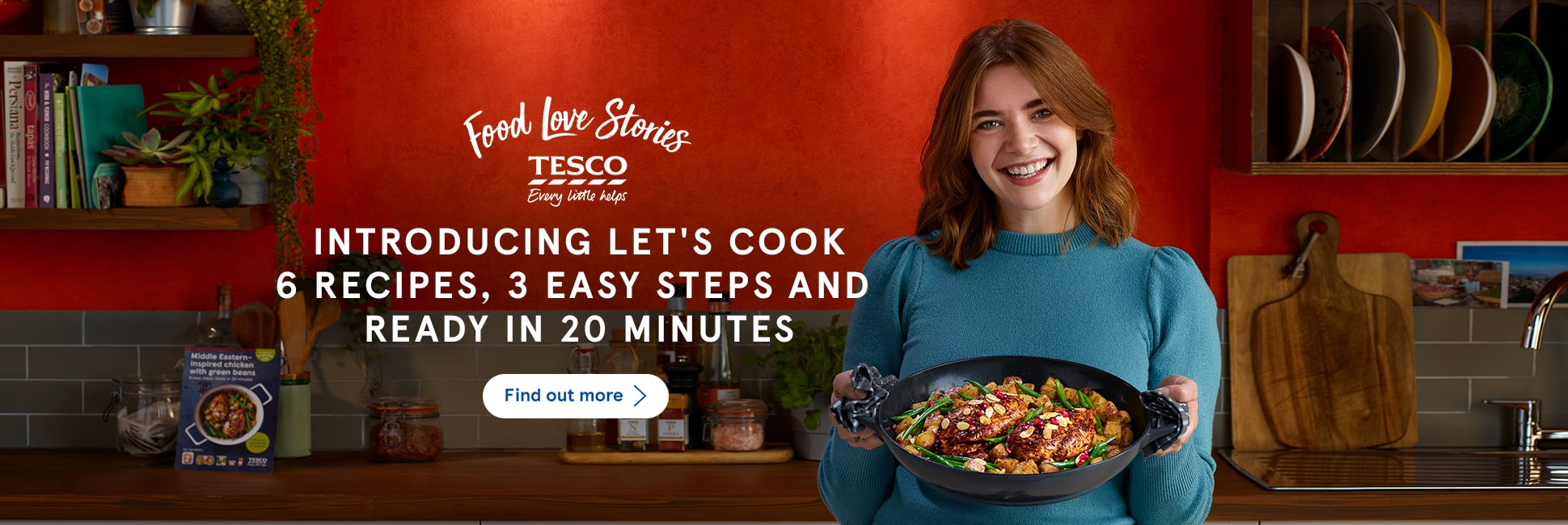 Introducing Let's Cook. 6 recipes, 3 easy steps and ready in 20 minutes. Find out more.