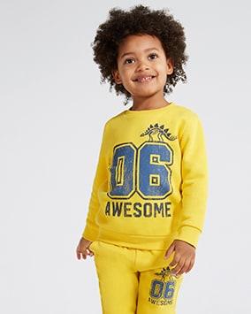 Exstore F/&F Tesco Age 9-18 M New Baby Boys Navy Blue Sweatshirt Fox Racoon