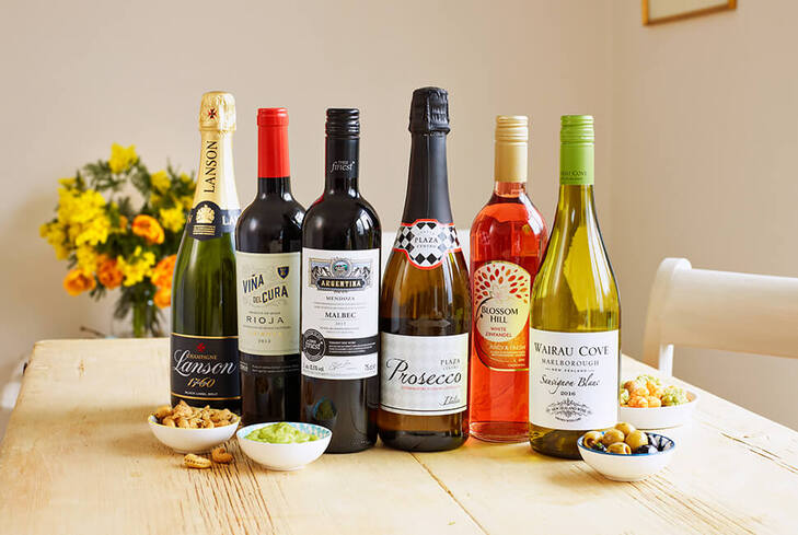 25% off 6 or more bottles of wine
