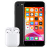 iPhone SE 2020 with AirPods